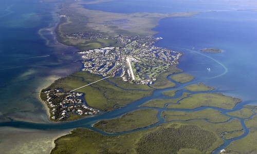 Aerial shot of Ocean Reef Key Largo